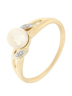 love-pearl-9ct-yellow-gold-diamond-set-freshwater-pearl-ring
