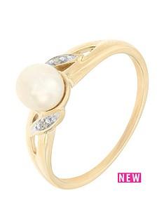 love-pearl-9ct-yellow-gold-diamond-set-freshwater-pearl-ring