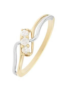 love-diamond-9ct-yellow-and-white-gold-12-point-diamond-trilogy-ring