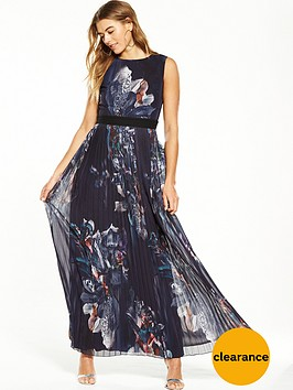 little-mistress-dark-base-floral-pleat-maxi-dress