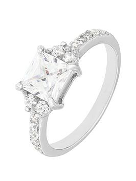 the-love-silver-collection-sterling-silver-plate-clear-princess-cut-cubic-zirconia-ring