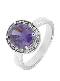 the-love-silver-collection-sterling-silver-rhodium-plated-cubic-zirconia-cluster-ring