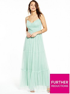 little-mistress-mesh-satin-band-maxi-dress