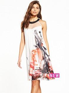 little-mistress-floral-ink-print-shift-dress