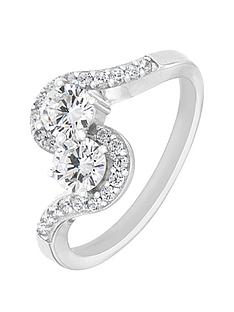 the-love-silver-collection-sterling-silver-cubic-zirconia-twist-ring
