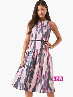 little-mistress-printed-midi-dress-with-belt
