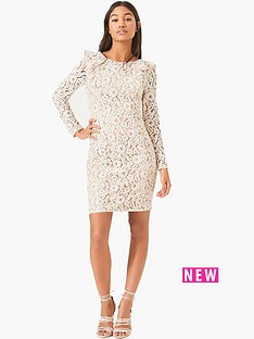 little-mistress-little-mistress-long-sleeve-crochet-mini-with-nude-lining
