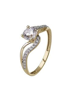 love-gold-9ct-yellow-gold-cubic-zirconia-swirl-ring