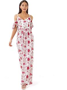 little-mistress-cold-shoulder-embroidered-maxi-dress