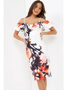 little-mistress-floral-ink-print-ruffle-dress