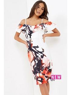 little-mistress-floral-ink-print-ruffle-dress