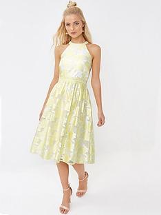little-mistress-organza-jacquard-dress