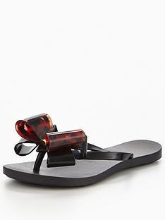 zaxy-zaxy-link-twin-bow-flipflop-toe-post-sandal