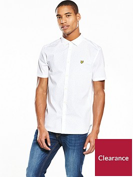 lyle-scott-lyle-amp-scott-mini-square-dot-ss-shirt