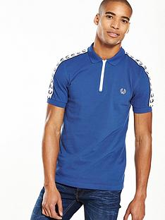 fred-perry-fred-perry-sports-authentic-taped-zip-neck-polo