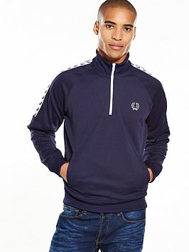 fred-perry-sports-authentic-half-zip-tape-track-top