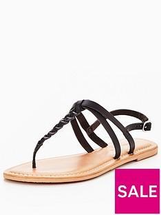 v-by-very-caitlyn-plaited-toepost-flat-sandal-black