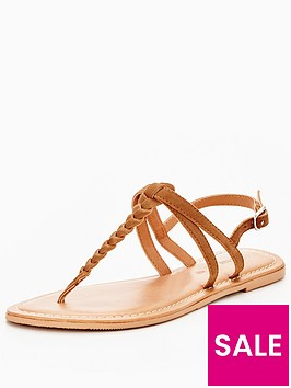 v-by-very-caitlyn-plaited-toepost-flat-sandal-tan