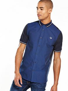 fred-perry-fred-perry-knitted-collar-short-sleeve-oxford-shirt