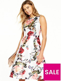 ax-paris-fit-and-flare-printed-dress