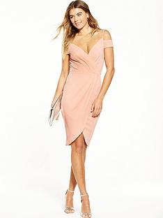 ax-paris-cold-shoulder-wrap-dress-blush