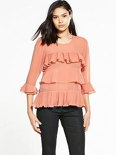 vila-siva-frill-blouse
