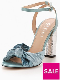 office-natural-knot-heeled-sandal-aqua