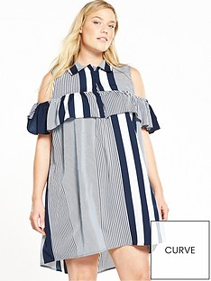 ax-paris-curve-curve-cold-shoulder-ruffle-front-dress