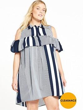 ax-paris-curve-curve-cold-shoulder-ruffle-front-dress