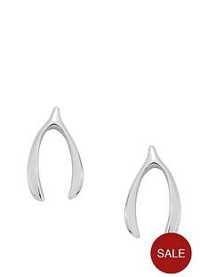 love-silver-sterling-silver-wishbone-stud-earrings