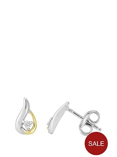 love-gem-sterling-silver-2-tone-cz-twist-earrings