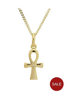 keepsafe-sterling-silver-gold-plated-diamond-cross-pendant