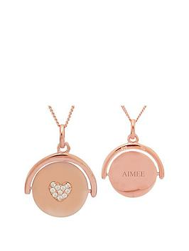 keepsafe-sterling-silver-rose-gold-plated-cubic-zirconianbspheart-spinner-pendant
