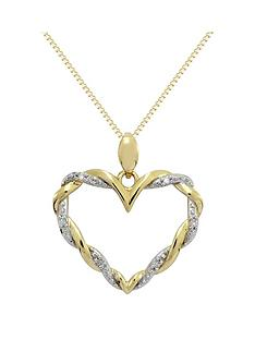 love-diamond-9ct-gold-cubic-zirconia-twist-heart-pendant