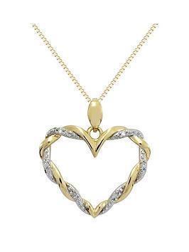 love-diamond-9ct-gold-cubic-zirconianbsptwist-heart-pendant
