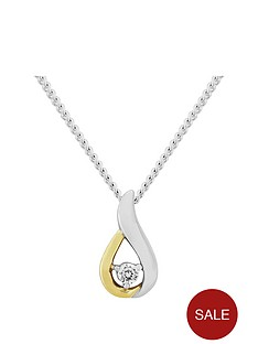 love-gem-sterling-silver-and-yellow-rhodium-cz-pendant