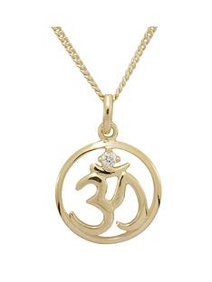 love-silver-sterling-silver-gold-plated-cubic-zirconia-om-yoga-pendant