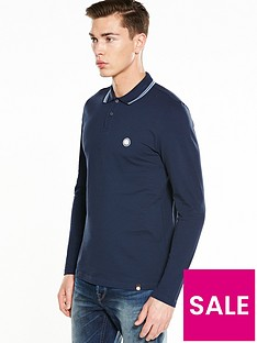 pretty-green-pretty-green-barton-long-sleeved-tipped-polo