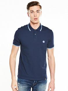 2fba61e8a5f90d Pretty Green Pretty Green Barton Short Sleeved Tipped Polo