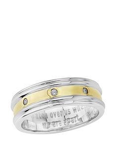 keepsafe-keepsafe-mens-sterling-silver-yellow-gold-plate-diamond-set-ring