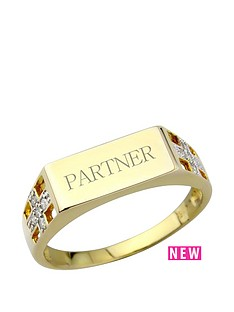 keepsafe-sterling-silver-gold-plated-diamond-set-personalised-signet-ring