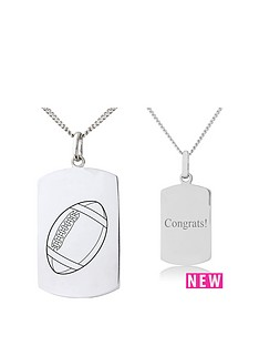 keepsafe-keepsafe-sterling-silver-personalised-dog-tag-pendant