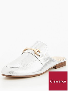 miss-selfridge-silver-snaffle-backless-mule