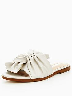 miss-selfridge-bow-slider-grey