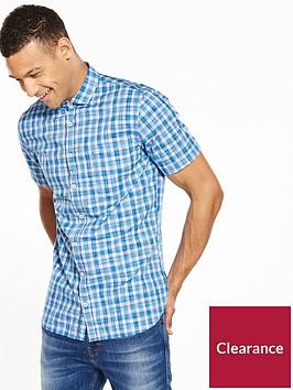 boss-check-short-sleeved-shirt