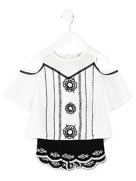 river-island-mini-girls-embroidered-top-and-short-outfit
