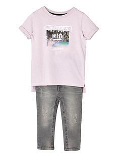 river-island-mini-boys-pink-epic-kid-t-shirt-and-jeans-set