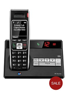 bt-bt-diverse-7450-plus-single-dect-phone-with-answer-machine-black
