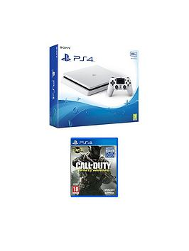 playstation-4-slim-500gbnbspwhite-console-with-call-of-duty-infinite-warfarenbspplus-optional-12-months-psn-andor-extra-controller