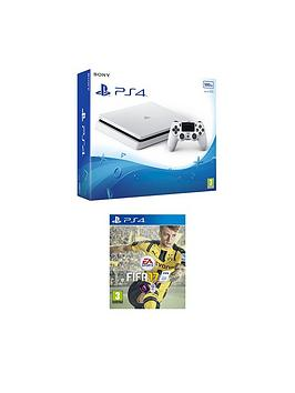 playstation-4-slim-500gbnbspwhite-console-with-fifa-17nbspplus-optional-extra-controller-andor-12-months-playstation-network